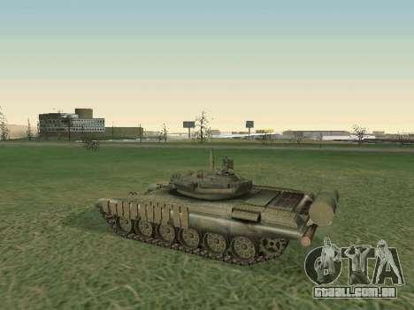 Tanque T-72B para GTA San Andreas vista traseira