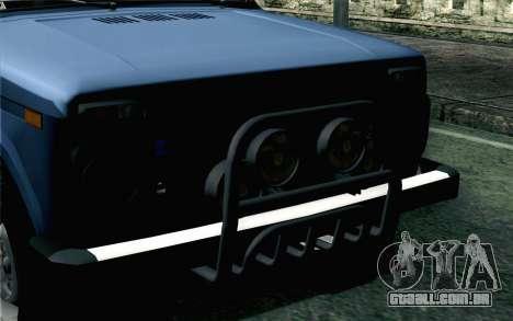 VAZ 2131 Niva 5D para GTA San Andreas vista traseira
