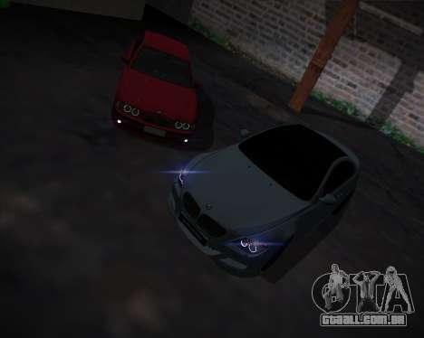 BMW 5-series E39 Vossen para GTA San Andreas interior