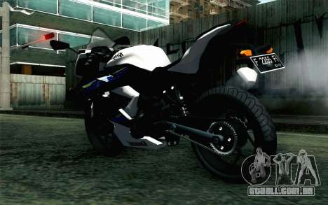 Kawasaki Ninja 250RR Mono White para GTA San Andreas esquerda vista