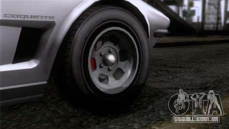 GTA 5 Invetero Coquette Classic TL SA Mobile para GTA San Andreas traseira esquerda vista