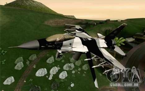 F-16C Fighting Falcon Aggressor Alaska BlackGrey para GTA San Andreas