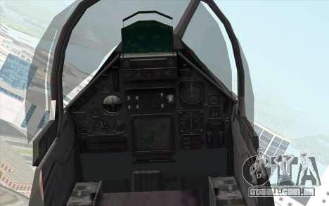 Dassault Mirage 2000 ISAF para GTA San Andreas vista direita