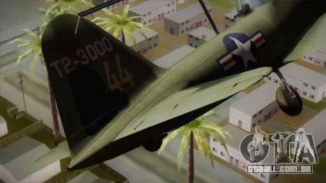 ИЛ-10 da Força Aérea dos Estados Unidos para GTA San Andreas traseira esquerda vista