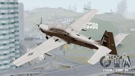 Embraer A-29B Super Tucano Navy White para GTA San Andreas esquerda vista