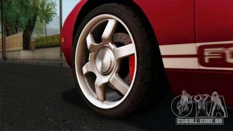 Ford GT FM3 Rims para GTA San Andreas traseira esquerda vista