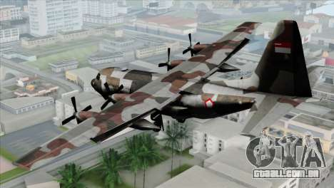 C-130B Indonesian Air Force (TNI AU) para GTA San Andreas esquerda vista
