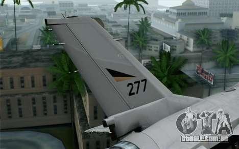 F-16 Fighting Falcon RNoAF para GTA San Andreas traseira esquerda vista
