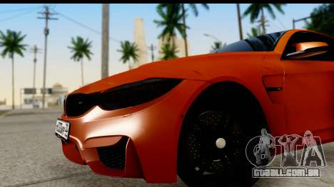 BMW M4 para GTA San Andreas vista direita