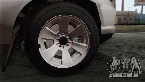 Chevrolet Niva para GTA San Andreas traseira esquerda vista