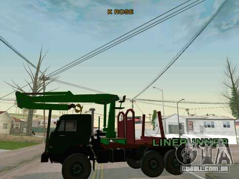 KamAZ 44108 Madeira para GTA San Andreas vista traseira