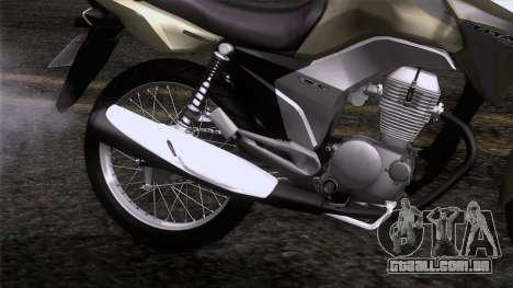 Honda CG Titan 150 2014 para GTA San Andreas vista traseira