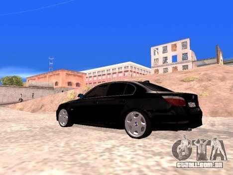 BMW 525i (e60) para GTA San Andreas esquerda vista