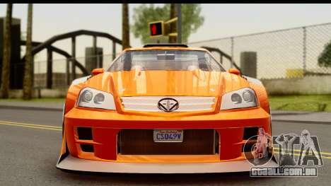GTA 5 Benefactor Feltzer para GTA San Andreas traseira esquerda vista