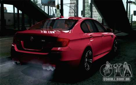 BMW M5 F10 2012 Stock para GTA San Andreas esquerda vista