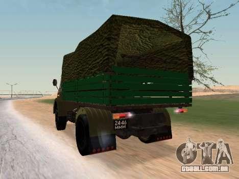 MAZ 503 para GTA San Andreas traseira esquerda vista