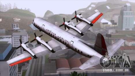 L-188 Electra American Als para GTA San Andreas esquerda vista