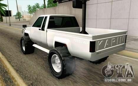 Technical from GTA 5 para GTA San Andreas esquerda vista