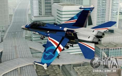 F-18D RAAF 20th Anniversary para GTA San Andreas esquerda vista