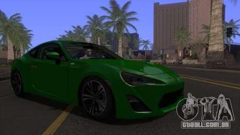 Scion FR-S 2013 Stock v2.0 para GTA San Andreas vista traseira
