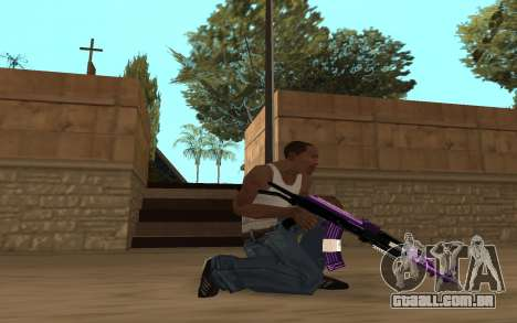 Purple Weapon Pack by Cr1meful para GTA San Andreas sexta tela
