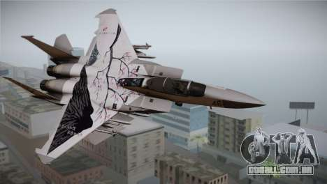 F-22 Raptor Colorful Floral para GTA San Andreas