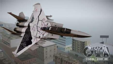 F-22 Raptor Colorful Floral para GTA San Andreas