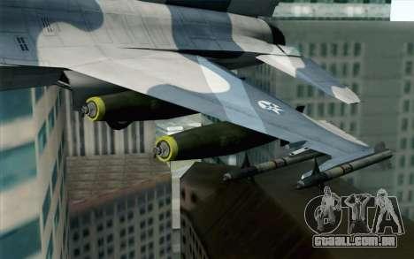 F-16 Osean Air Defense Force para GTA San Andreas vista direita