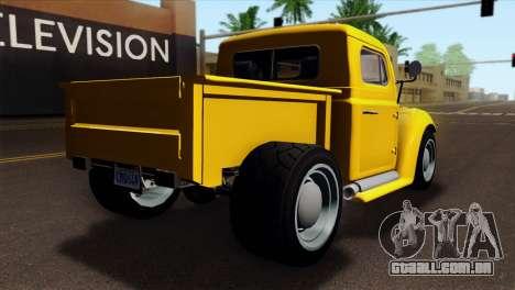 GTA 5 Bravado Rat-Truck para GTA San Andreas esquerda vista