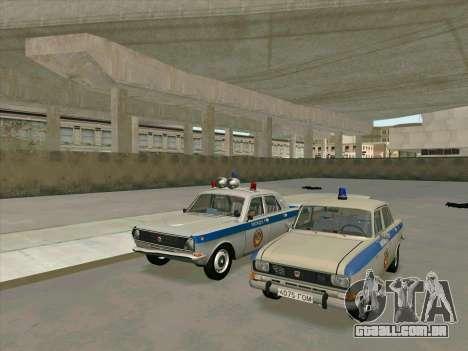 Moskvich 2140 Polícia para GTA San Andreas traseira esquerda vista