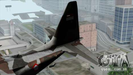 C-130B Indonesian Air Force (TNI AU) para GTA San Andreas traseira esquerda vista