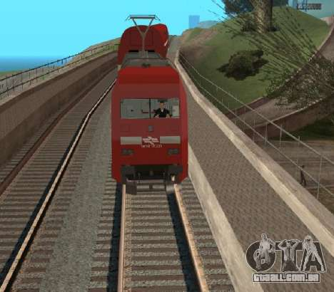 Israeli Train para GTA San Andreas vista direita