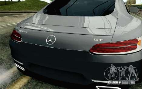 Mercedes-Benz AMG GT 2015 para GTA San Andreas vista traseira