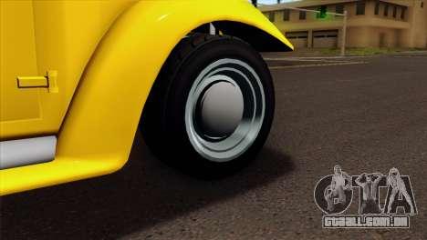GTA 5 Bravado Rat-Truck para GTA San Andreas traseira esquerda vista