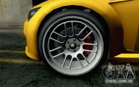 GTA 5 Ubermacht Sentinel Coupe para GTA San Andreas traseira esquerda vista
