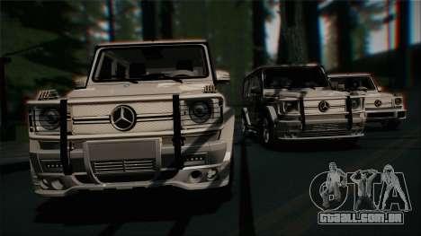 Mercedes-Benz G65 2013 AMG Body para vista lateral GTA San Andreas