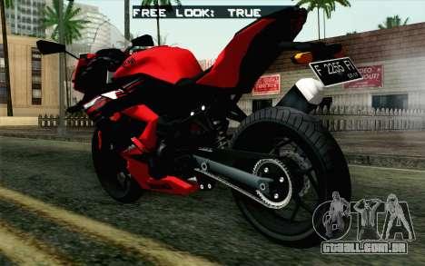 Kawasaki Ninja 250RR Mono Red para GTA San Andreas esquerda vista