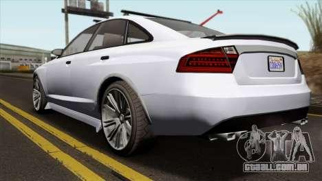 GTA 5 Obey Tailgater IVF para GTA San Andreas esquerda vista