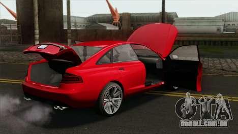 GTA 5 Obey Tailgater para GTA San Andreas vista direita