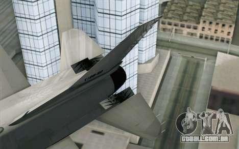 Mitsubishi F-2 Blue JASDF Skin para GTA San Andreas traseira esquerda vista