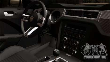 Ford Mustang Boss 302 2013 para GTA San Andreas vista direita