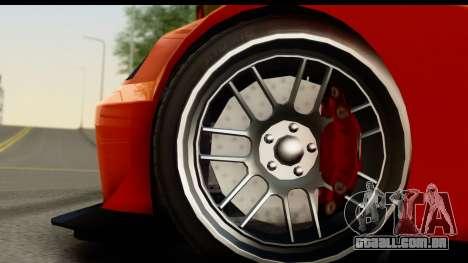 GTA 5 Benefactor Feltzer para GTA San Andreas vista traseira