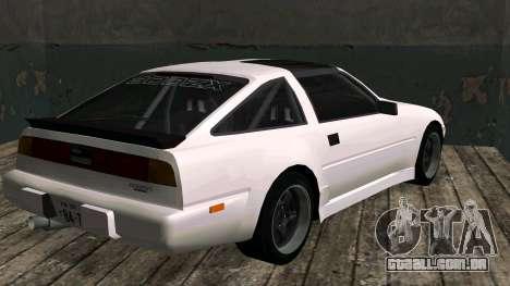 Nissan Fairlady Z 300ZX (Z31) para GTA San Andreas traseira esquerda vista