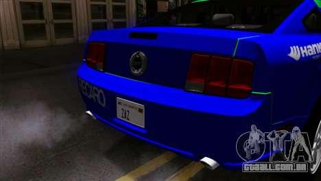 Ford Mustang GT Wheels 2 para GTA San Andreas vista traseira