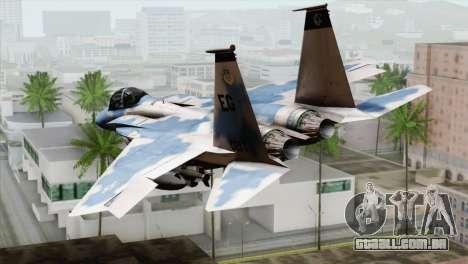 F-15E Artic Blue para GTA San Andreas esquerda vista
