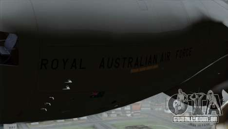 C-17A Globemaster III RAF para GTA San Andreas vista direita