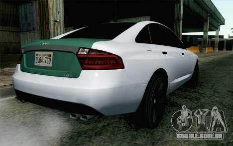 GTA 5 Obey Tailgater v2 IVF para GTA San Andreas esquerda vista