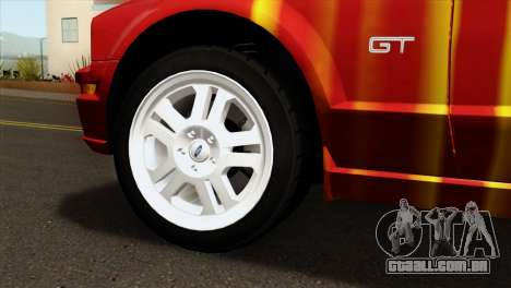 Ford Mustang GT PJ para GTA San Andreas traseira esquerda vista