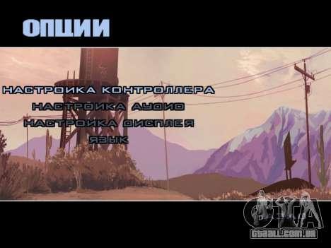 Menu HD para GTA San Andreas por diante tela