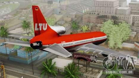 Lookheed L-1011 LTU Intl para GTA San Andreas esquerda vista